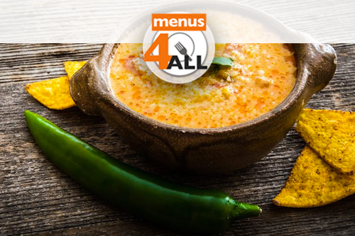 Cheese dip with corn chips