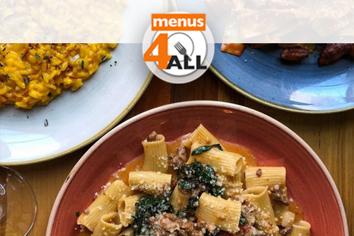 3 fresh pasta dishes from Amis; gnocchi with wine braised beef, saffron risotto and Mackeral escabeche.