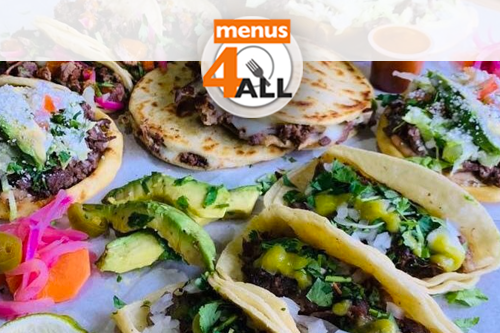 A variety of carne tacos from Tacos El Bigotes