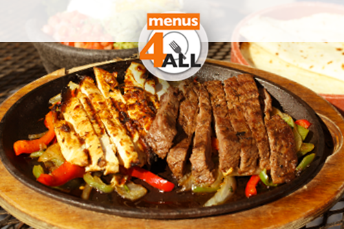 Fajitas combo for one with chicken and steak from Chuys.